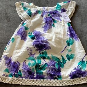 12-18 months Baby Girl Gap Floral Dress Purple